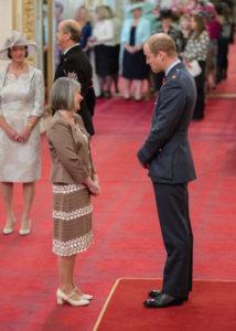 Porthcawl RNLI volunteer Aileen Jones meets Prince William